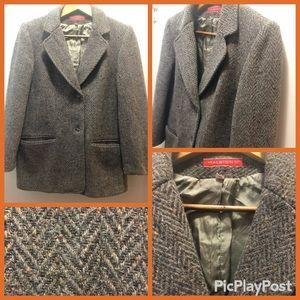 Halston 100% wool coat
